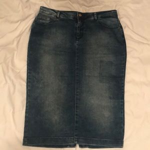 ZARA Denim knee length skirt